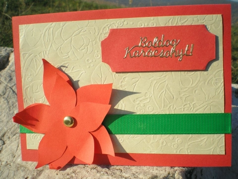 Kézzel készült karácsonyi üdvözlőlap ötletek