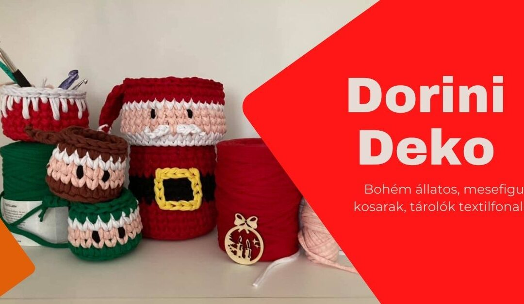 DORINI DEKO – Egyedi tárolók pólófonalból