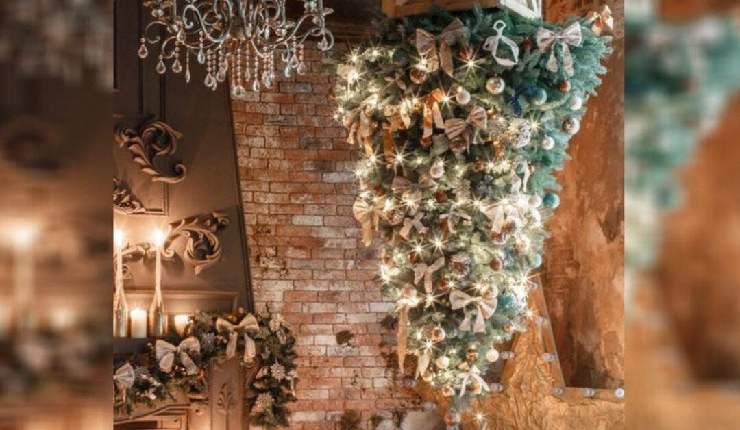Ezek megőrültek?! Karácsonyfa fejjel lefelé?