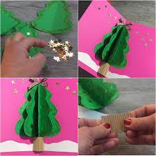Karácsonyi 3D üdvözlőlap fenyőfával