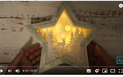 Karácsonyi csillaglámpa készítés – VIDEÓ